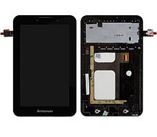 Дисплей для планшета Lenovo IdeaTab A3000 + Touchscreen with frame Black