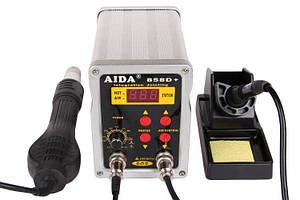 Паяльна станція термовоздушная, турбінна, двоканальна Aida (Kada) 858D+ (Фен, паяльник, 900М, 550Вт)
