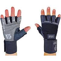 Перчатки атлетические кожа VL-8114
