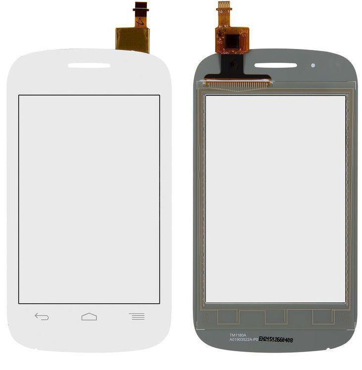 Сенсор (тачскрин) для телефона Alcatel One Touch 4015 C1 Dual Sim (4015D, 4015X) White