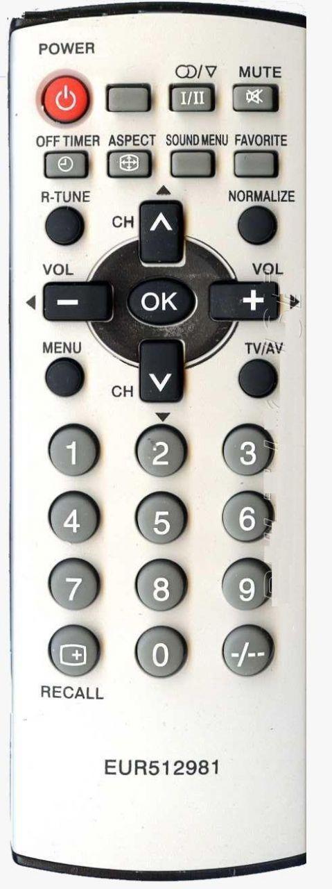 Пульт для телевизора Panasonic EUR512981