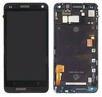 Дисплей (экран) для телефона HTC One M7 801e + Touchscreen with frame Original Black