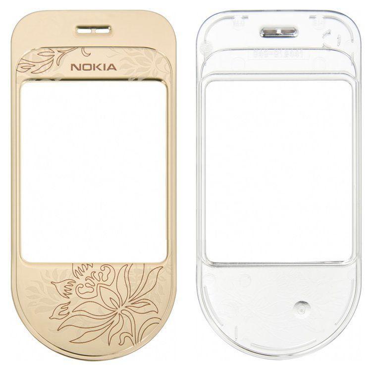 Корпусное стекло дисплея Nokia 7370 Gold