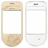 Корпусне скло дисплея Nokia 7370 (пластик) Gold