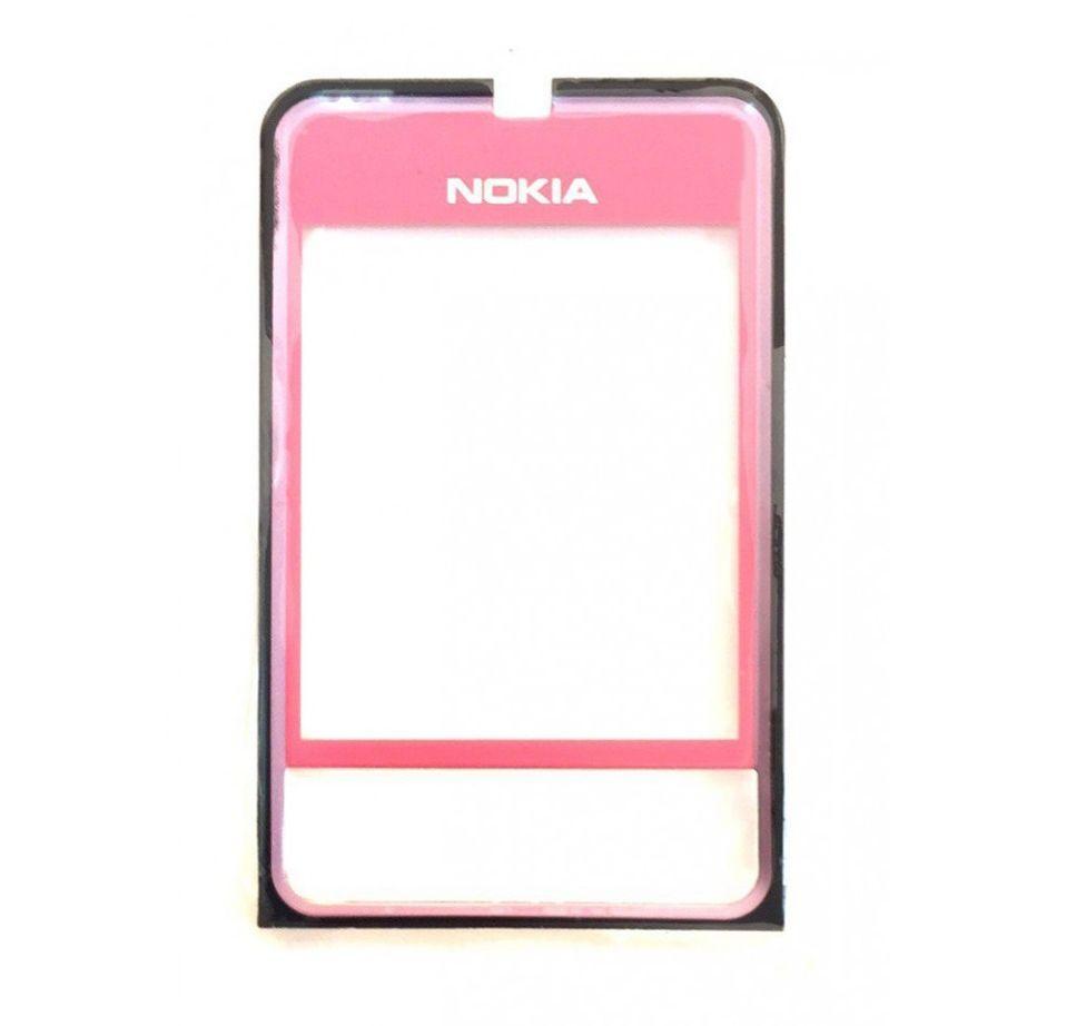 Корпусне скло дисплея Nokia 3250 (пластик) Pink