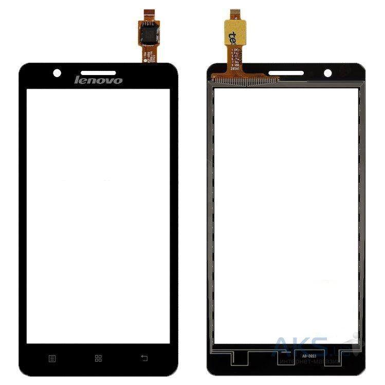 Сенсор (тачскрин) для телефона Lenovo A368, A536, A358T Black