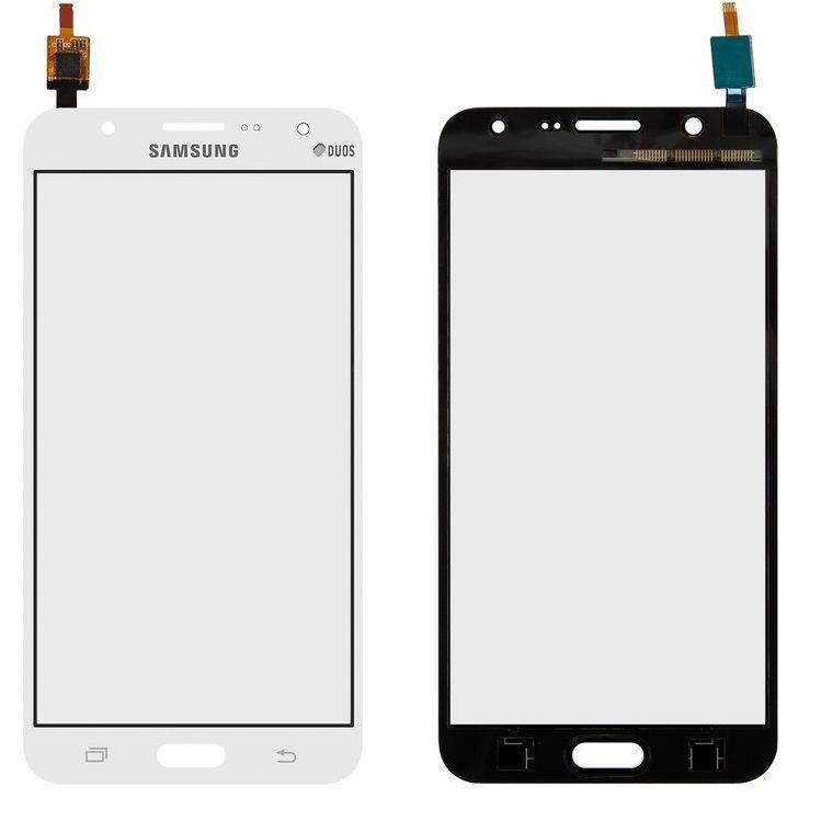 Сенсор (тачскрин) для телефона Samsung Galaxy J7 Duos J700, J7008 White