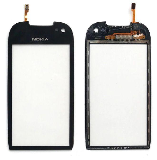 Сенсор (тачскрин) для телефона Nokia 701 Black