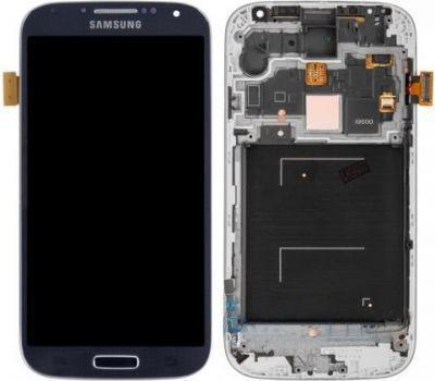 Дисплей (екран) для телефону Samsung I9500 Galaxy S4 (Super AMOLED) + Touchscreen with frame (original) Blue