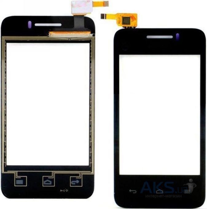 Сенсор (тачскрин) для телефона Huawei Ascend Y220 Black
