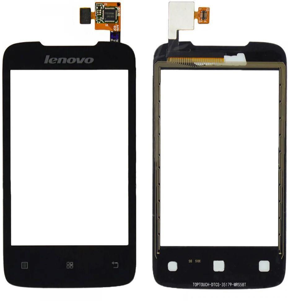 Сенсор (тачскрин) для телефона Lenovo A269, A269i Black