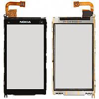 Сенсор (тачскрин) Nokia X6-00 with frame Black