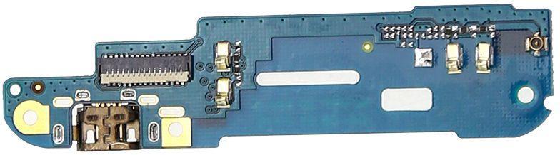 Нижняя плата HTC Desire 610 с коннектором зарядки и микрофоном