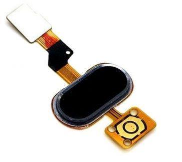 Шлейф Meizu M3s кнопка Home со сканером отпечатка пальца Black