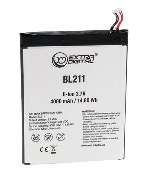 Аккумулятор Lenovo P780 IdeaPhone / BL211 / BML6376 (4000 mAh) ExtraDigital