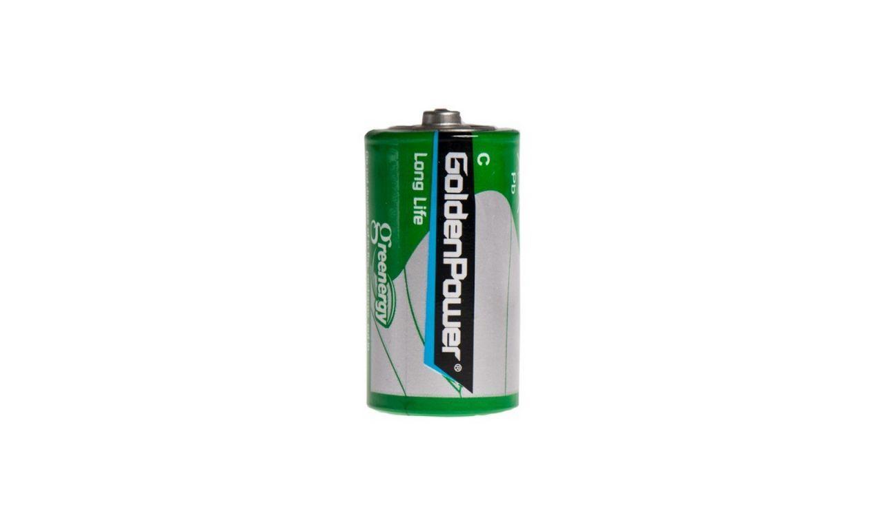Батарейка Golden Power С (R14) Long Life Zinc-Carbon 1шт