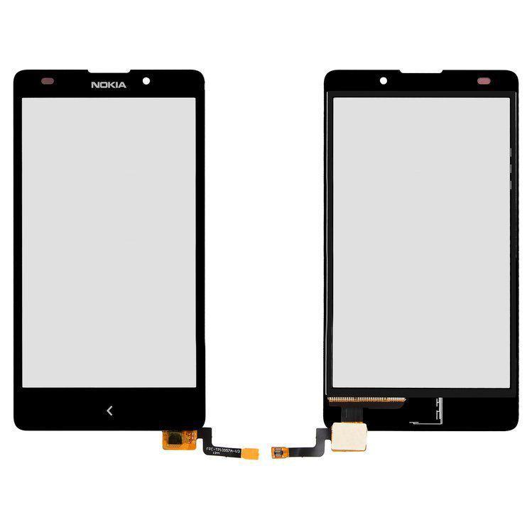 Сенсор (тачскрин) для телефона Nokia XL Dual Sim (RM-1030, RM-1042, RM-1061) (original) Black