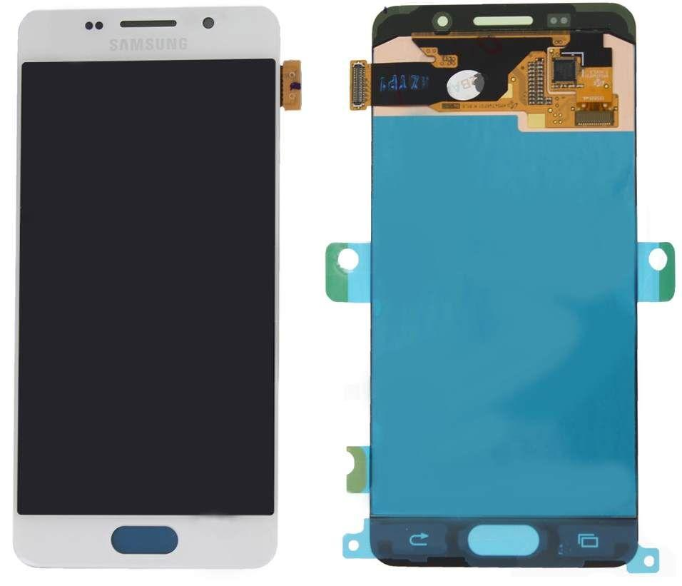 Дисплей (экран) для телефона Samsung Galaxy A3 A310 (2016), A310F, A310M, A310N, A310Y (Super AMOLED) + Touchscreen Original White
