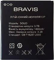 Аккумулятор Bravis SOLO (1400 mAh) 12 мес. гарантии, фото 1