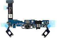 Нижняя плата Samsung Galaxy A5 2016 A510F с разъемом зарядки и наушников микрофоном и подсветкой сенсорных