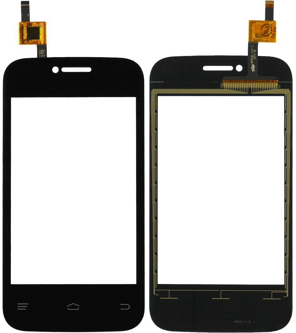 Сенсор (тачскрин) для телефона Fly IQ239+ (с отверстием под камеру) Black
