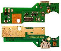 Нижняя плата Lenovo S930 с разъемом зарядки и микрофоном