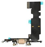 Шлейф Apple iPhone 8 Plus с разъемом зарядки / наушников и микрофоном Original Gold