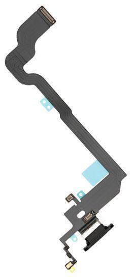 Шлейф Apple iPhone X с разъемом зарядки / наушников и микрофоном Original Space Gray