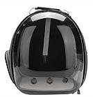 Рюкзак переноска для кошки собаки Черный, сумка для кота собак и домашних животных прозрачный, рюкзаки с иллюминатором переноски Cosmopet Upet AnimAll, фото 2