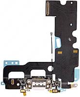 Нижний шлейф зарядки iPhone 7 с разъемом наушников и микрофоном Original White, фото 1