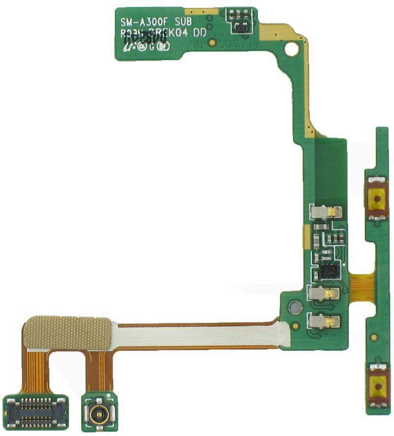 Шлейф Samsung Galaxy A3 A300H / A300F / A300FU з кнопками регулювання гучності та мікрофоном