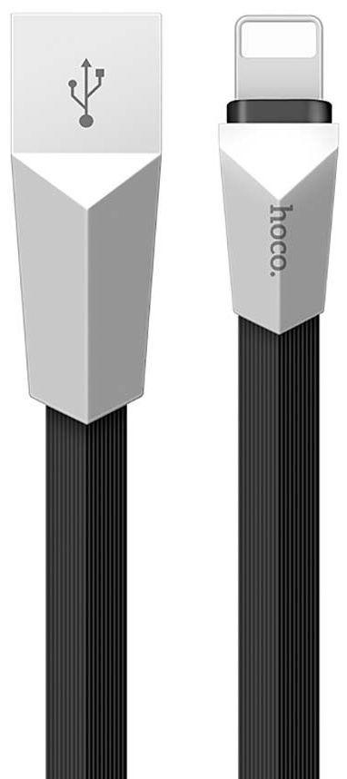 Кабель USB Hoco X4 Zinc Lightning 1.2 M Black