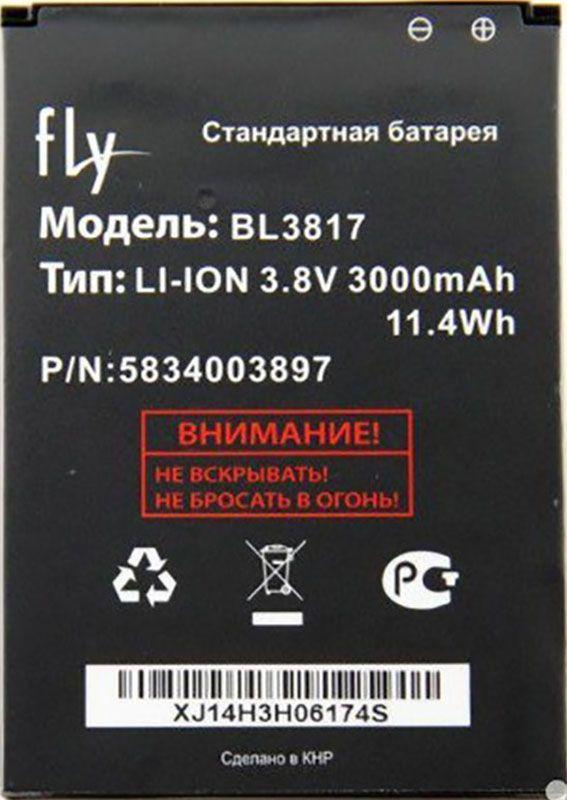 Акумулятор для телефону Fly iQ4417 ERA Energy 3 / BL3817 (3000 mAh) 12 міс. гарантії