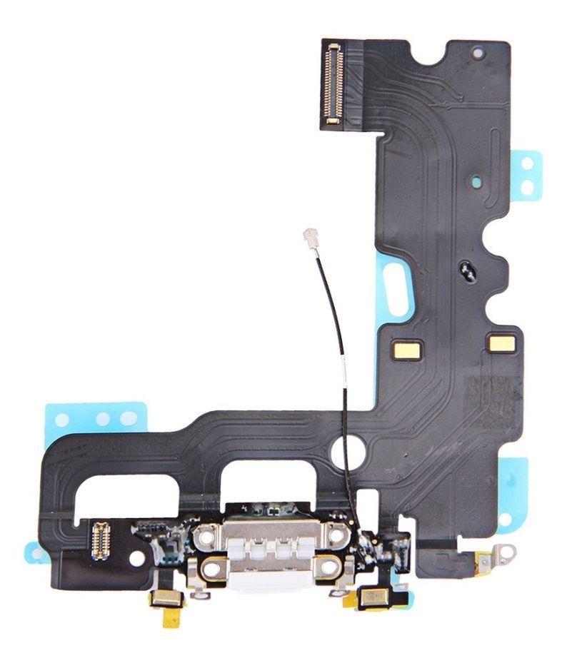 Шлейф Apple iPhone 7 з роз'ємом зарядки / навушників і мікрофоном White