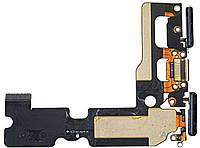Шлейф Apple iPhone 7 Plus з роз'ємом зарядки, навушників і мікрофоном Black