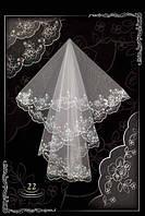 Свадебная фата- компьютерная вышивка №22