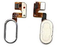 Шлейф Meizu M3 Note (L681H) с кнопкой Home (14 pin) Original Silver