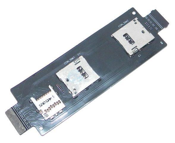 Шлейф Asus ZenFone 2 (ZE551ML) з роз'ємом для SIM-карти і карти пам'яті