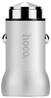Автомобильное зарядное устройство Hoco Z4 Car Charger 2,1A QC 2.0 Silver