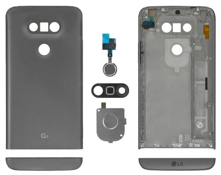 Задняя крышка корпуса LG G5 H820 / G5 H830 / G5 H850 / G5 US992 / G5 VS987 Grey