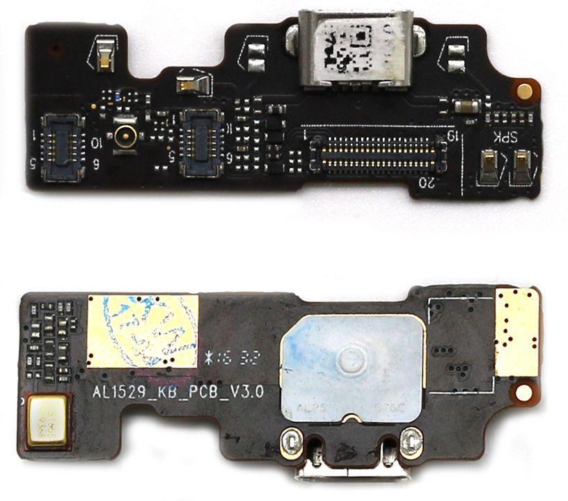 Нижняя плата Meizu U20 с разъемом зарядки и микрофоном