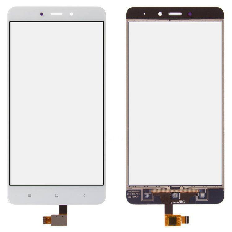 Сенсор (тачскрин) для телефона Xiaomi Redmi Note 4 White