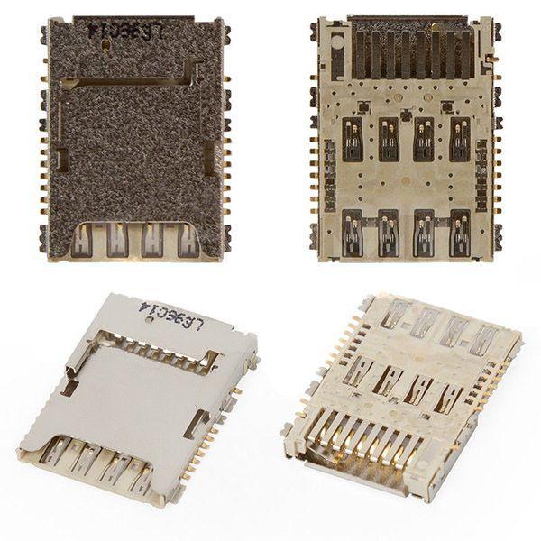 Разъем SIM-карты и карты памяти Samsung Galaxy J3 2016 J320H / J320DS / Galaxy J5 J5008 LTE / J500F, J500DS,
