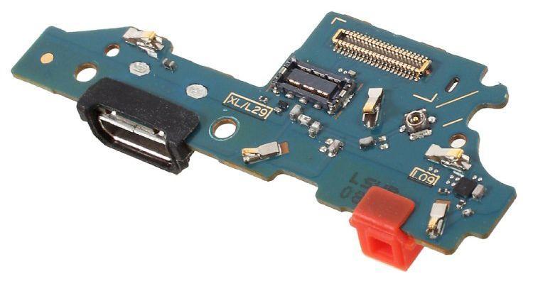Нижняя плата Huawei Ascend Mate 8 (NXT-L09 / NXT-L29A) с разъемом зарядки и микрофоном