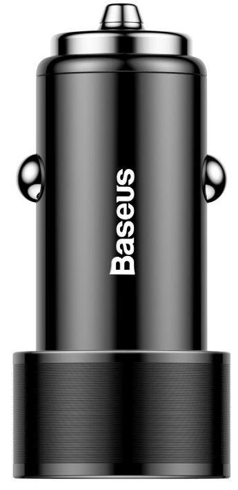 Автомобильное зарядное устройство Baseus Small Screw 2USB QC Car Charger 36W Black (CAXLD-B01)