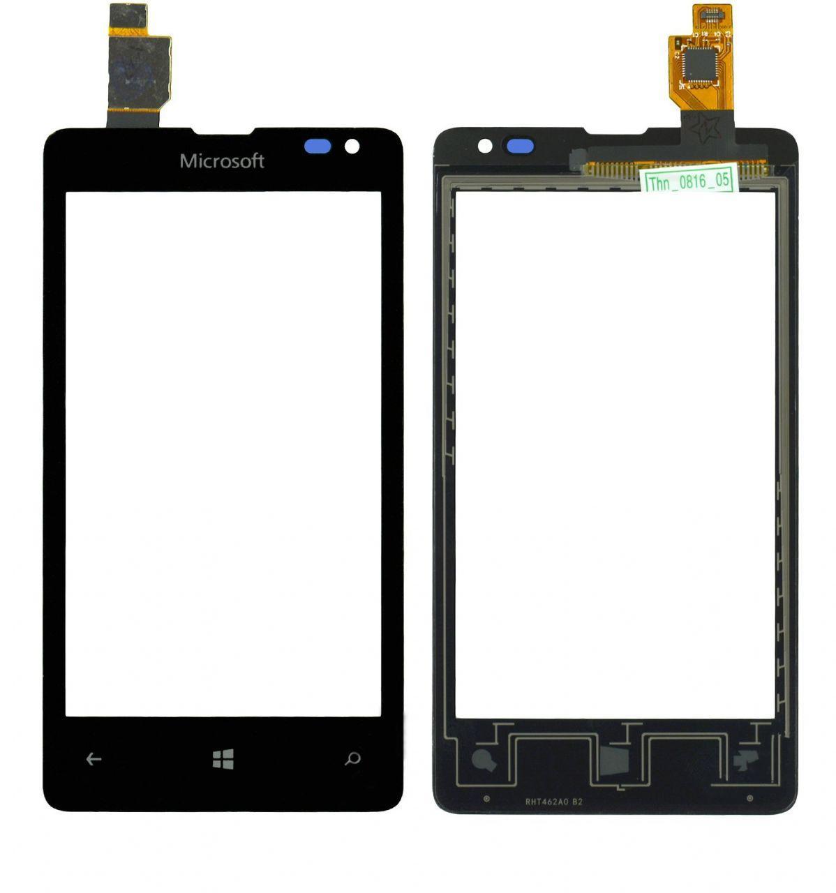 Сенсор (тачскрин) для телефона Microsoft Lumia 435, Lumia 532 RM-1069 Black