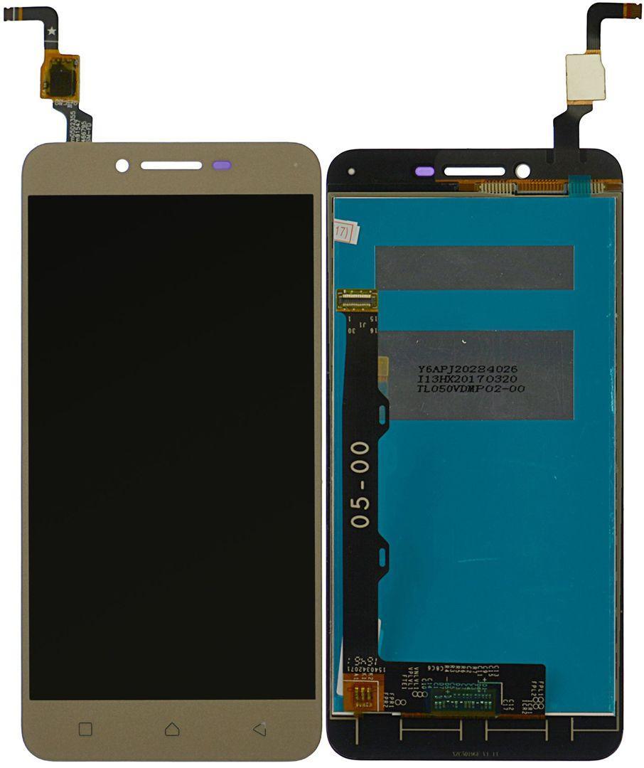 Дисплей (экран) для телефона Lenovo Vibe K5 Plus A6020a46, Lemon 3 + Touchscreen Gold