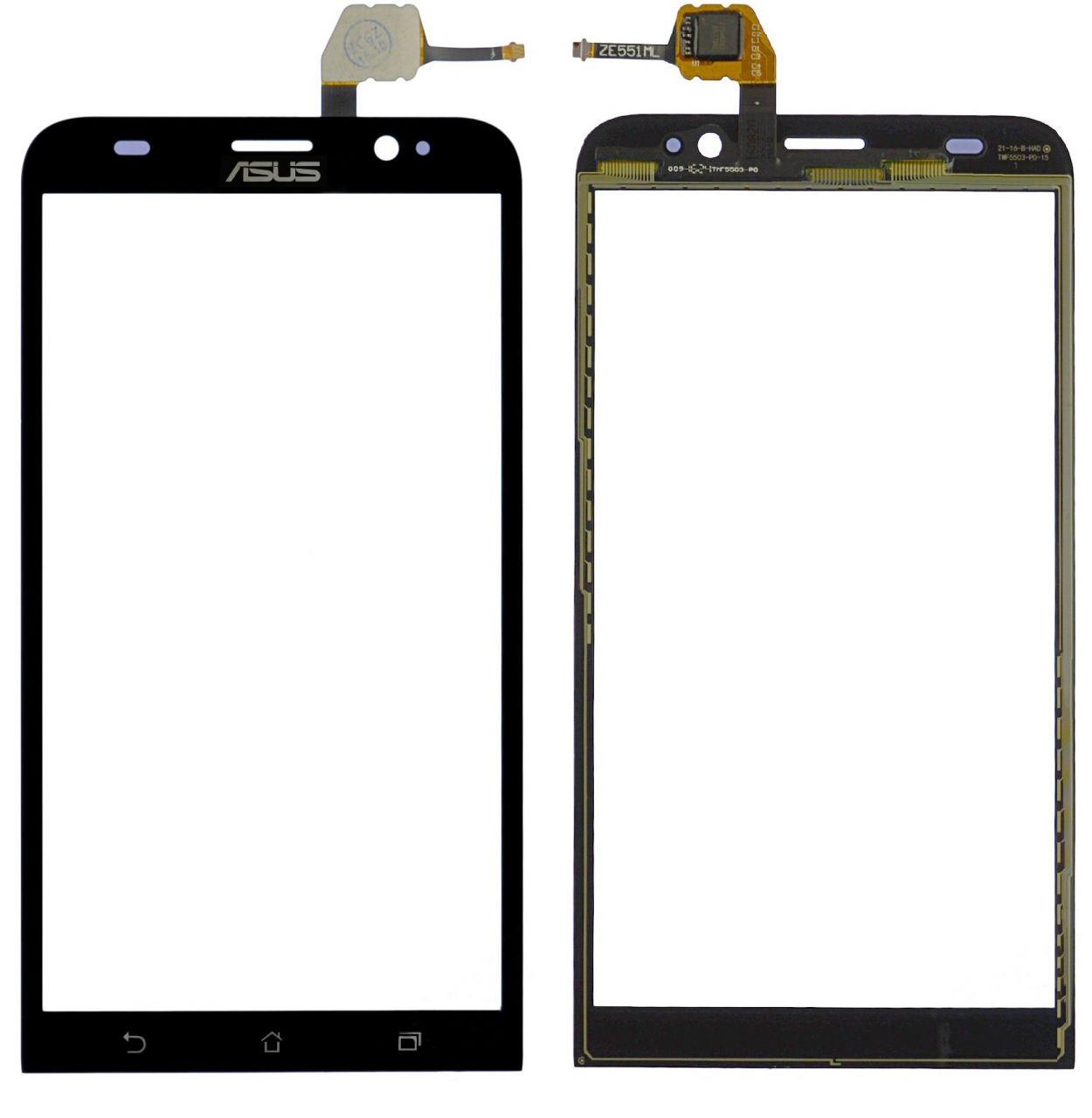 Сенсор (тачскрин) для телефона Asus ZenFone 2 ZE551ML Black