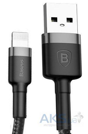 Купить Техника и электроника, Кабель USB Baseus Kevlar Cafule Lightning Cable Black/Gray