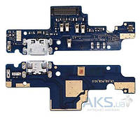 Нижняя плата Xiaomi Redmi Note 4 Global / Redmi Note 4X Snapdragon с разъемом зарядки и микрофоном (узкий)